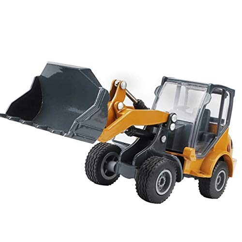 LTLWL Bulldozer Engineering Vehicle 1 60 Inertial Toy Car Model Simulation Excavator Environmental Protection Applicable Alloy Production Bucket and Shovel Arm Can Swing Up DownYellow