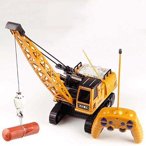 BIUYYY RC Engineering Vehicle Crawler 12 Channel Light Music Children Toy for New Year