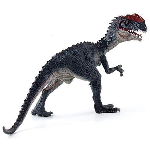 LQZYTY Jurassic Dinosaur Animal Model Simulation Dilophosaurus Solid Static Science and Education Decoration Toys