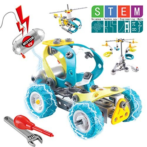 Toys Kit 10 in 1 Motorized Educational Construction Engineering Building Blocks Set for 10+ Year Old Boys & Girls Best Birthday Toy Gifts Kids