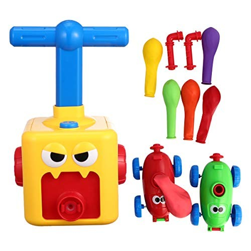 NUOBESTY Inertia Power Balloon Car Pull Back Vehicles Science Educational Toys Plaything for Boys