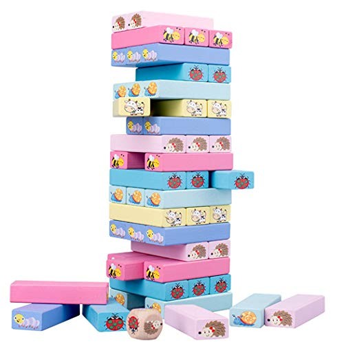 51PCS Building Block Cartoon Wooden Stacking Board Educational Toy for Children