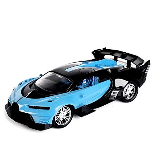 Rapeje RC Car Transforming Robot Model Toy Red Remote Control Deformed Racing VehicleOne-Button Auto