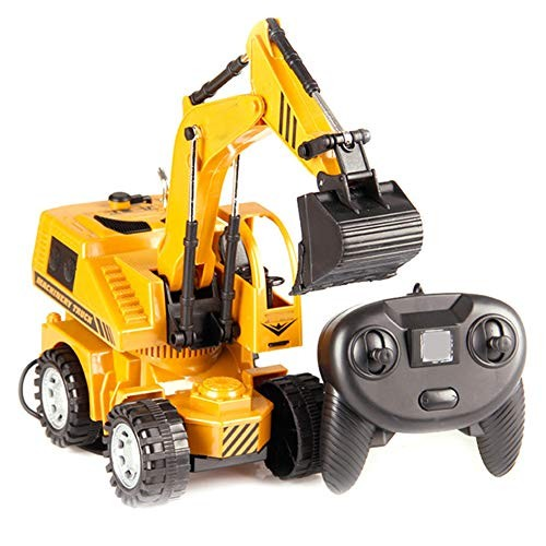 MAQLKC Build Excavator Toy Remote Control Engineering Vehicle Electric Construction Fully Functional Vehicles Digger Scoop Load Carry Dump Sand for Kid