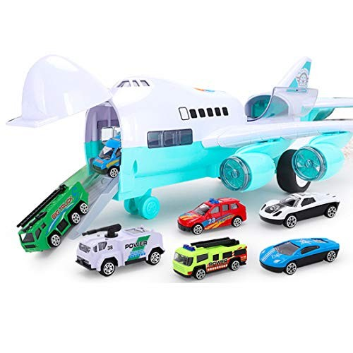 Zwish Airplane Toy with 6 Cars for Year Old Boys