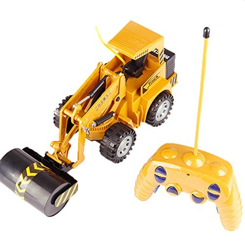 Remote Control Engineering Vehicle Electric Build Road Roller Toy Construction Fully Functional Vehicles Kid 5 Channel Simulation Model