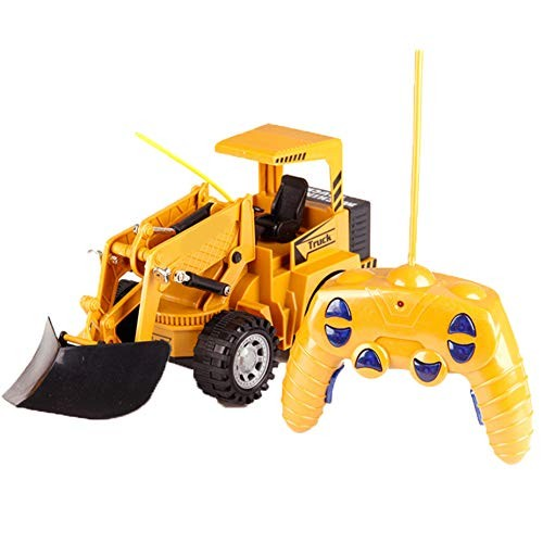 MAQLKC Engineering Vehicle Push Away Obstacles Remote Control Electric Build Toy Construction Fully Functional Vehicles Scoop Load Carry for Kid