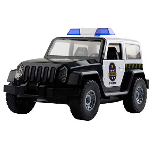 Dergo Shipped from United States DIY Assembled Police Car Off-Road Truck with Alarm Sounds