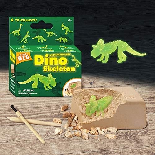Toddler Fine Motor Skill Toy2Sets Kid Glowing Dinosaur Skeleton Dig Excavation Kit Archaeology Education Toy – Random Style