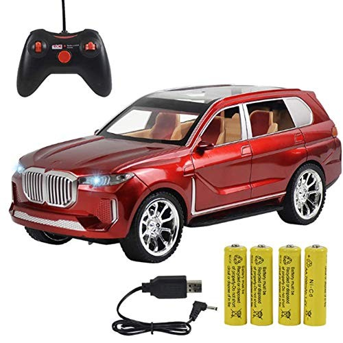 BIUYYY 1:14 Scale Remote Control Car 6 Channel with Light Toy Gift for Kids