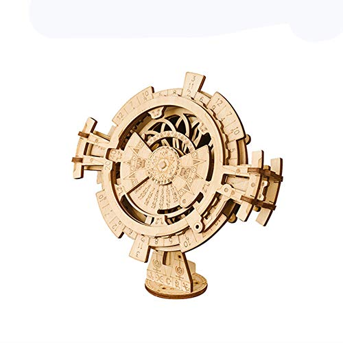 A1 Mechanical Gear 3D Wooden Puzzle Craft Toy Model Making kit-Perpetual Calendar Suitable for Teenagers Over 14 Years Old
