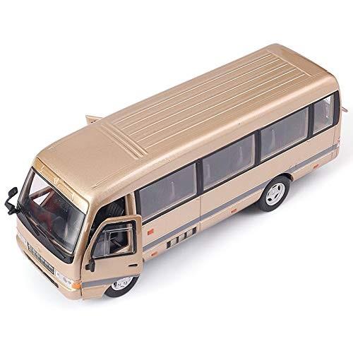 Nobranded Medium-Sized Bus Simulation Toy Passenger Car Model Alloy Pull Children Toys Genuine License