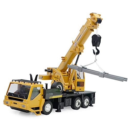 LISI Crane Truck Kids Electric Crane Building Remote Control Car 8 Channels with Battery