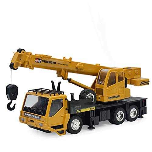 Construction Vehicles Diecast Crane 1 24 Remote Control Loader Engineering Truck 8 Channels 680 Rotation for Kids Gifts Educational Toys