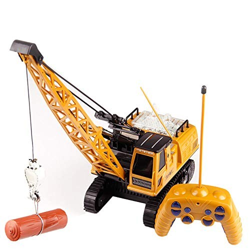 Diecast Tower Crane Boom Lift Car Remote Control 680 Degree Rotation 12 Channel Vehicles