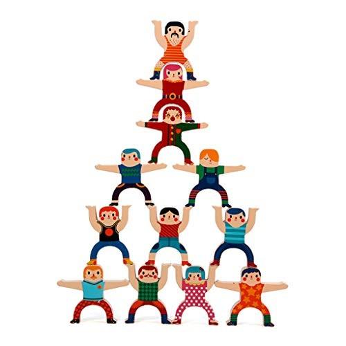 CDDG Wooden Building Blocks for Kids Balance Stacking Toys High Children