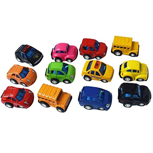 TOOGOO 12Pack Pull Back Vehicles Diecast Toy Model Cars Gift Set for Toddlers &