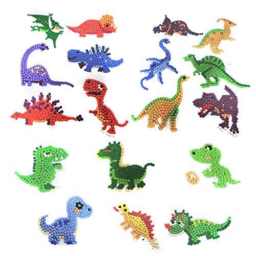 5D DIY Diamond Painting Kit 9 PCS Dinosaur Stickers Paint with Diamonds
