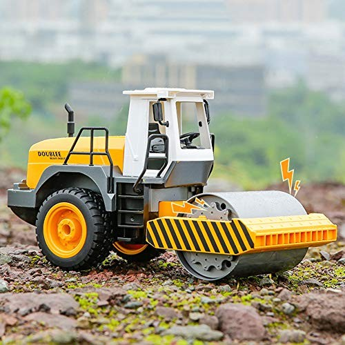 MZBZYU 1 40 24GHz Construction Site Vehicles Toy Simulation DIY Remote Control Engineering Vehicle Truck Steamroller