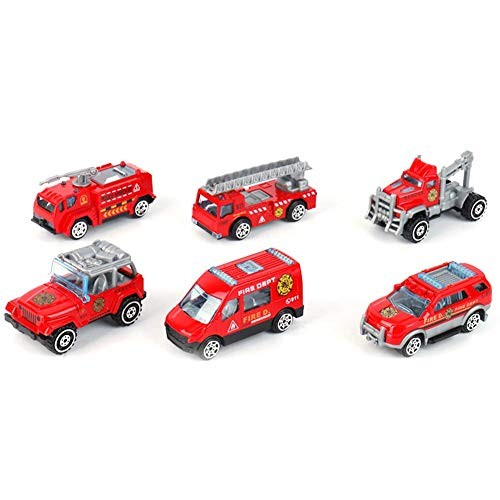 XBR Novelty Toys 6Pcs 1/60 Scale Die Cast Racing Cars Vehicle Play Toy CarHalloween