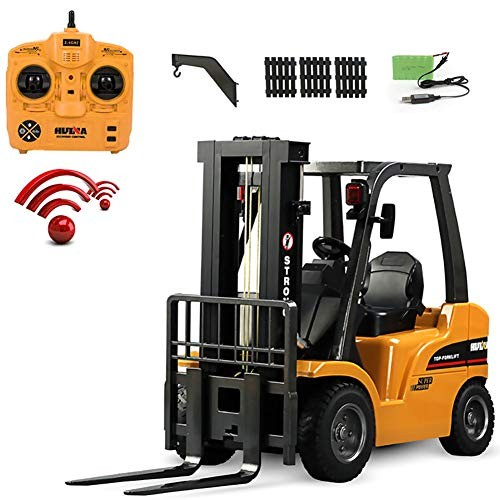 Forklift Engineering Truck 24G Remote Control Rechargeable Heavy Alloy Material with Music and Light for Parent Child Interaction