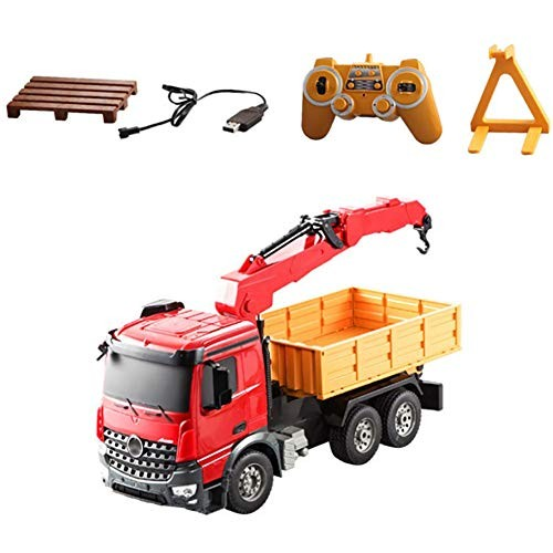 LISI Engineering Truck RC Dump 1 20 Scale 24GHz Remote Control 180 Rotation Double Function Vehicle Toy Gift for Kids Children
