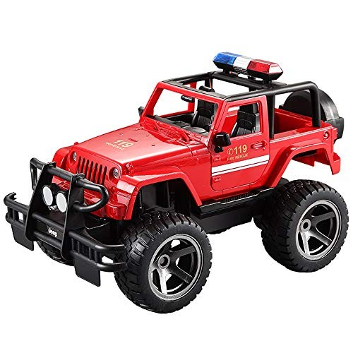 TBFEI Electric Remote Control Police Car Children Simulation Large Off-Road Jeep Police Rescue Car