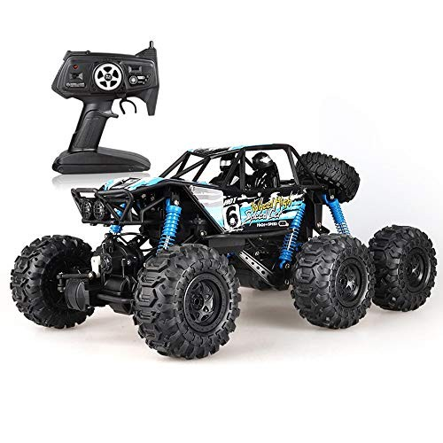 TBFEI Children's Toy Car Charging Six-Wheel Remote Control Car 1:8 Waterproof Climbing Off-Road Vehicle