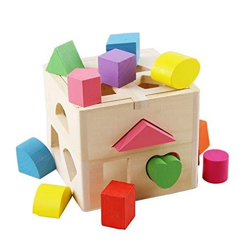 Shape Sorter 13 Holes Wooden Intellectual Box
