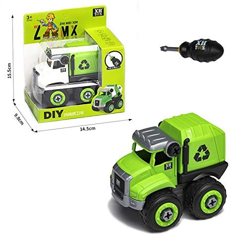 Disassembly Loading Unloading Engineering Truck Excavator Bulldozer Child Screw Boy Creative Tool Education Toy Car Model 677-104-3