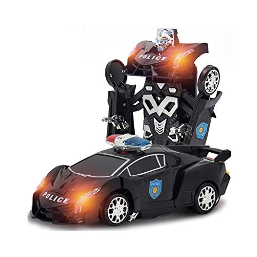 Haxikocty Electric Deformation Racing Car Comes with Light and Music Simple to Operate for