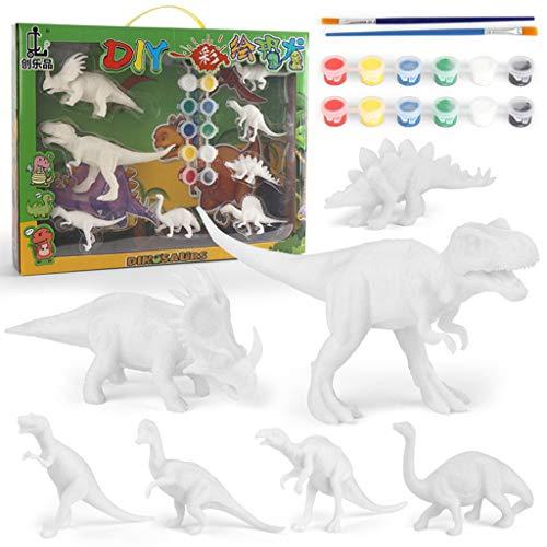 3D Painting Dinosaurs Figures for Kids Toys DIY Arts Crafts Kit Gift Black