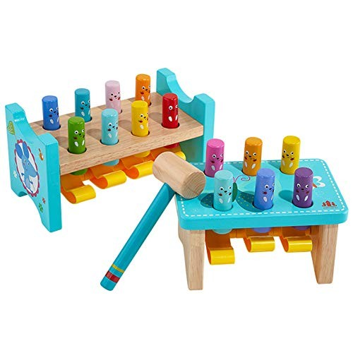 Brain game Gopher Toys for Children Wooden Educational Toys Building Block 1-3 Year Old Babies