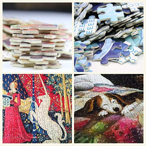 Zhyxia New 1000 Piece Jigsaw Puzzle for Adults Waterfall Trees Valley Natural Scene Coloring Toys Fun Games Wood Educational Toy Kids and