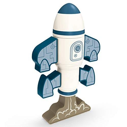 WE-POLUJ Magnetic Robot Building Blocks Rocket Model Puzzle Assembling Educational Toys