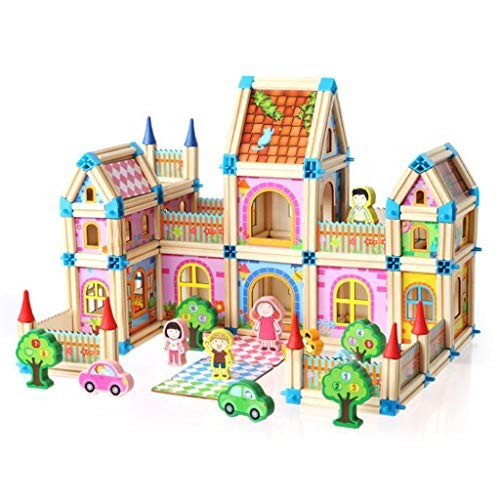 CCM Splicing Model Colorful Children's Toys Building Blocks Wooden Three-Dimensional Assembled House Birthday Gift Fx