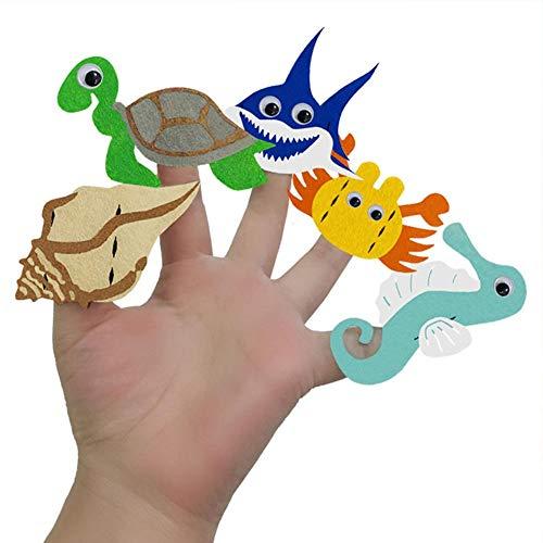 10PCS Finger Puppets DIY Puppet Craft Kits Educational Toys Kids Multifunctional Innovative Making Kit for Girls Boys
