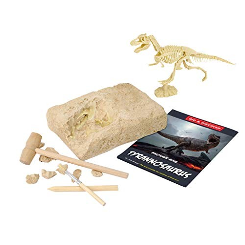 Ugood Dinosaur Dig Kit Dino Skeleton Fossil Excavation Realistic Model Educational Toys Gift for Children Boys Girls