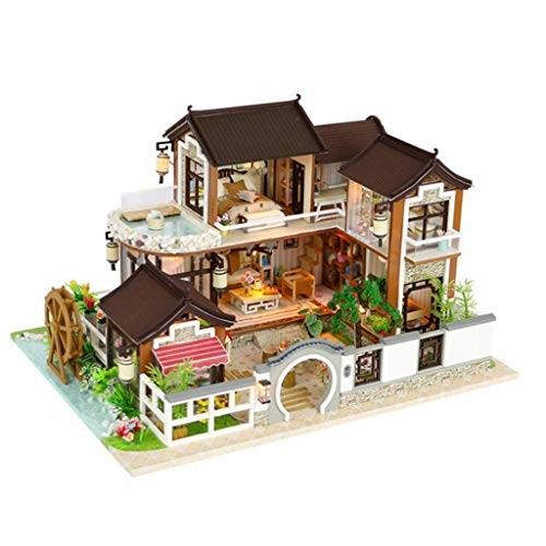CCM Assembled Building Blocks House Toys Handmade Wooden Creative Model Sand Table Doll Birthday Gifts Fx