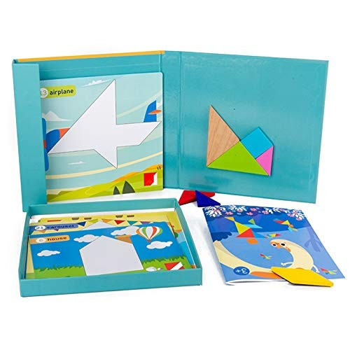 Shuohu 3D Magnetic Tangram Building Blocks for Kids Baby3D Jigsaw Puzzle Early Educational Toy – Multicolor