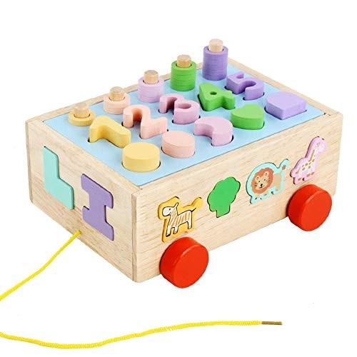 Generies Children's Wooden Color Stone Building Blocks Educational Toys