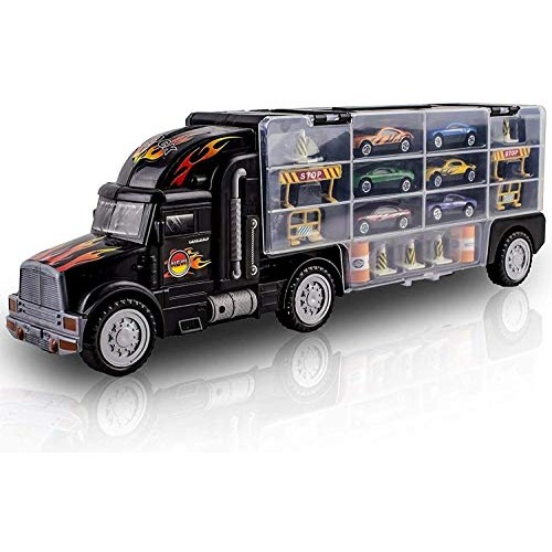Zeyujie Children's Container car Toy Simulation Alloy car Racing Suit Storage Container Truck Model