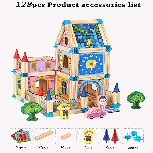 Generies 128 268pcs Wooden Building Block Model Toy