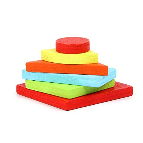 Shuohu Kids Baby Wooden Geometric Tangram Building Blocks3D Jigsaw Puzzle Game Intelligent Toy – Multicolor