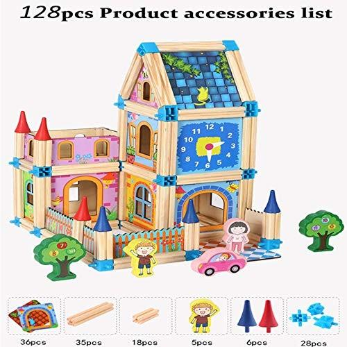Generies Children Gifts 128 268pcs Wooden Building Block Model Toy