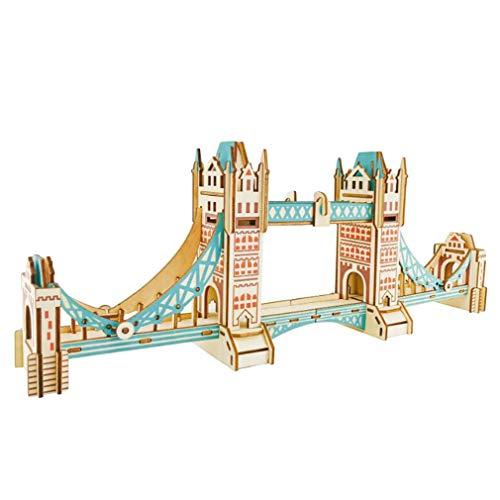 NIKOLay Camera Wooden Puzzle3D Puzzle-Wooden Model Building Sets Craft Kit Vintage KitTower Bridge
