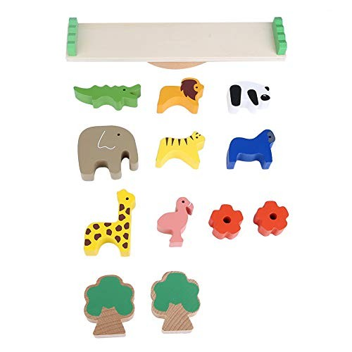 Balancing Game Block ToysWooden Forest Animals Plants Toys Children Kids Learning Playing Set