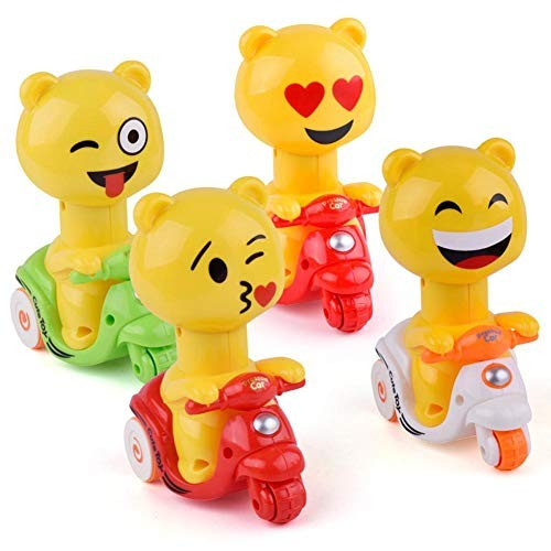 MOOMKEY LeadingStar Press Back Force Children's Toy Car Baby Inertia Duck Motorcycle Car Funny