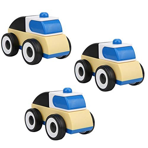 3pcs Vehicles Toys Detachable Assembly Car Inertia car Engineering car Police car fire Truck