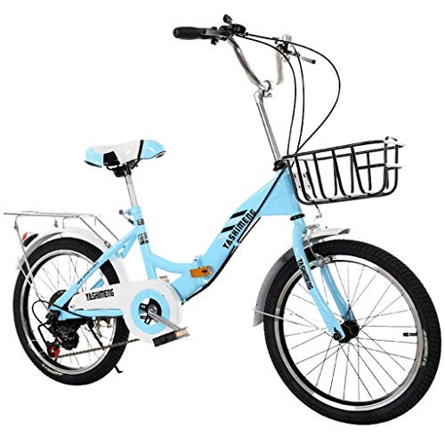 KAIXLIONLY 18 Inch Childs Mini Bike Lightweight Protable Bicycle for Kids Single Speed Folding